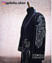 Чапан из серого велюра с вышивкой серебром, фото 6