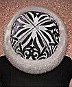 Чапан из серого велюра с вышивкой серебром, фото 7