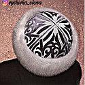 Чапан из серого велюра с вышивкой серебром, фото 8