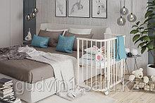 Кроватка детская «Эстель» приставная(белая,сл.кость)