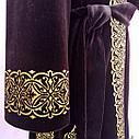 Чапан из коричневого велюра с вышивкой золотом, фото 5
