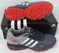 Кроссовки Adidas Cosmic Band Air Grey/White/Red размеры 40-44