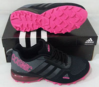 Кроссовки Adidas Cosmic Band Air Grey/Black/Pink размеры 40-44