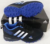 Кроссовки Adidas Cosmic Band Air Black/White/Blue размеры 40-44