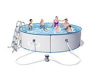 Стальной круглый бассейн 56611 Hydrium Splasher