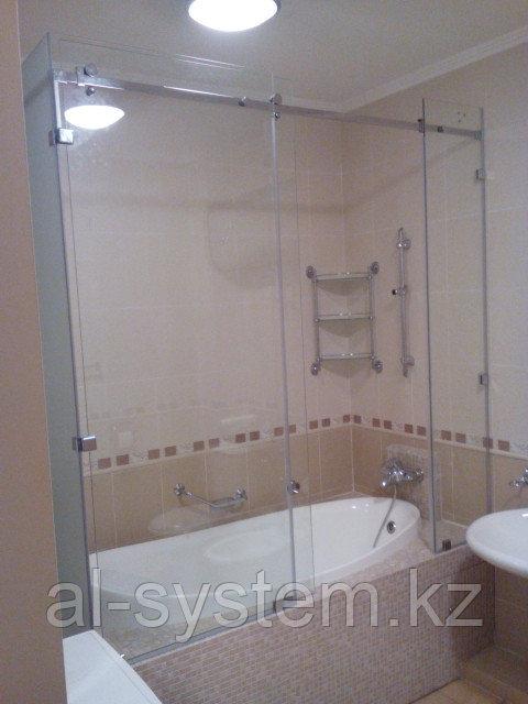 Раздвижные стеклянные двери для ванной комнаты