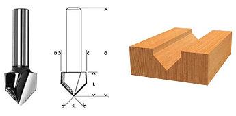 (36653) Фреза пазовая V-образная, DxHxL = 12х12х42 мм