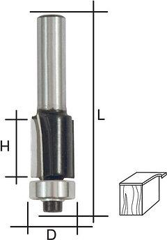 (36661) Фреза кромочная прямая, DxHxL = 8х20х68 мм