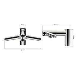 Dyson Airblade Wash+Dry Сушилка для рук встраиваемая низкая, фото 3