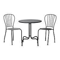 Стол+2стула, д/сада ЛЭККЭ серый ИКЕА, IKEA, фото 1