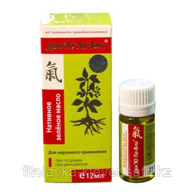 Нативное зелёное масло для наружного применения При псориазе и демодекозе Дан'Ю Па-Вли