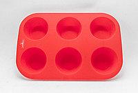 Силиконовая форма для кексов, красная, 23*13 см
