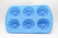 Силиконовая форма для кексов, голубая, 24*17 см