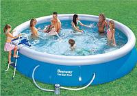 Круглый надувной бассейн Bestway 57294(57127) Fast Set Pool 457*107