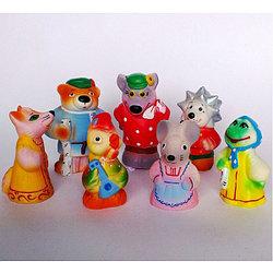 """Игровой набор """"Теремок"""", 7 резиновых игрушек"""