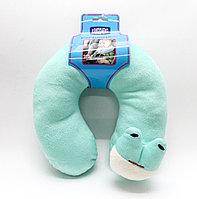 Подушка для путешествий, детская, зеленая, 20 см