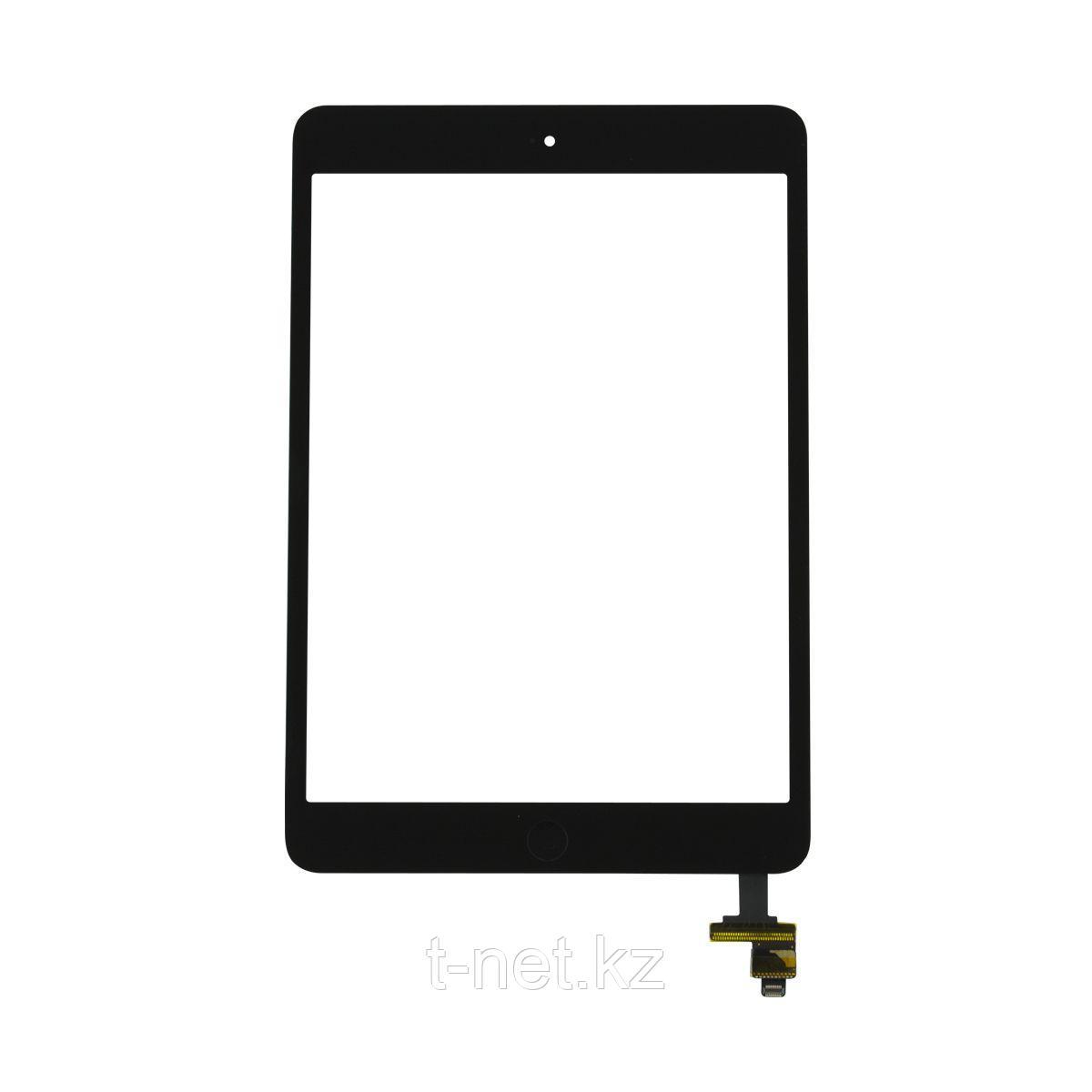 Сенсор Apple iPad Mini/ Mini2, с кнопкой HOME, с коннектором и IC, цвет черный