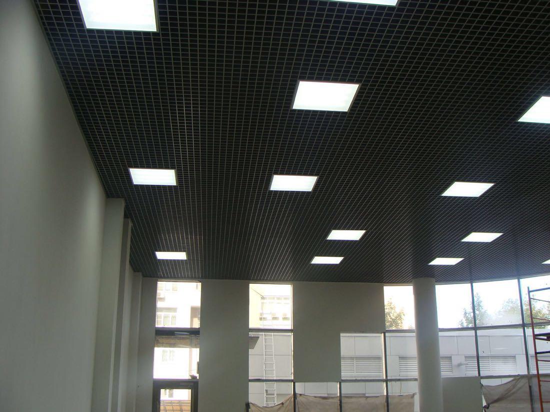 Потолок Грильято (черный) 100х100