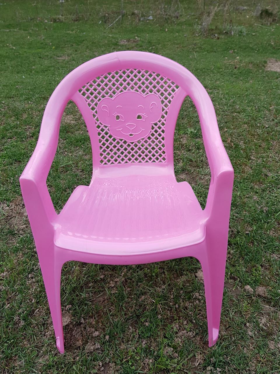 Детские стульчики пластиковые, четыре цвета - фото 1