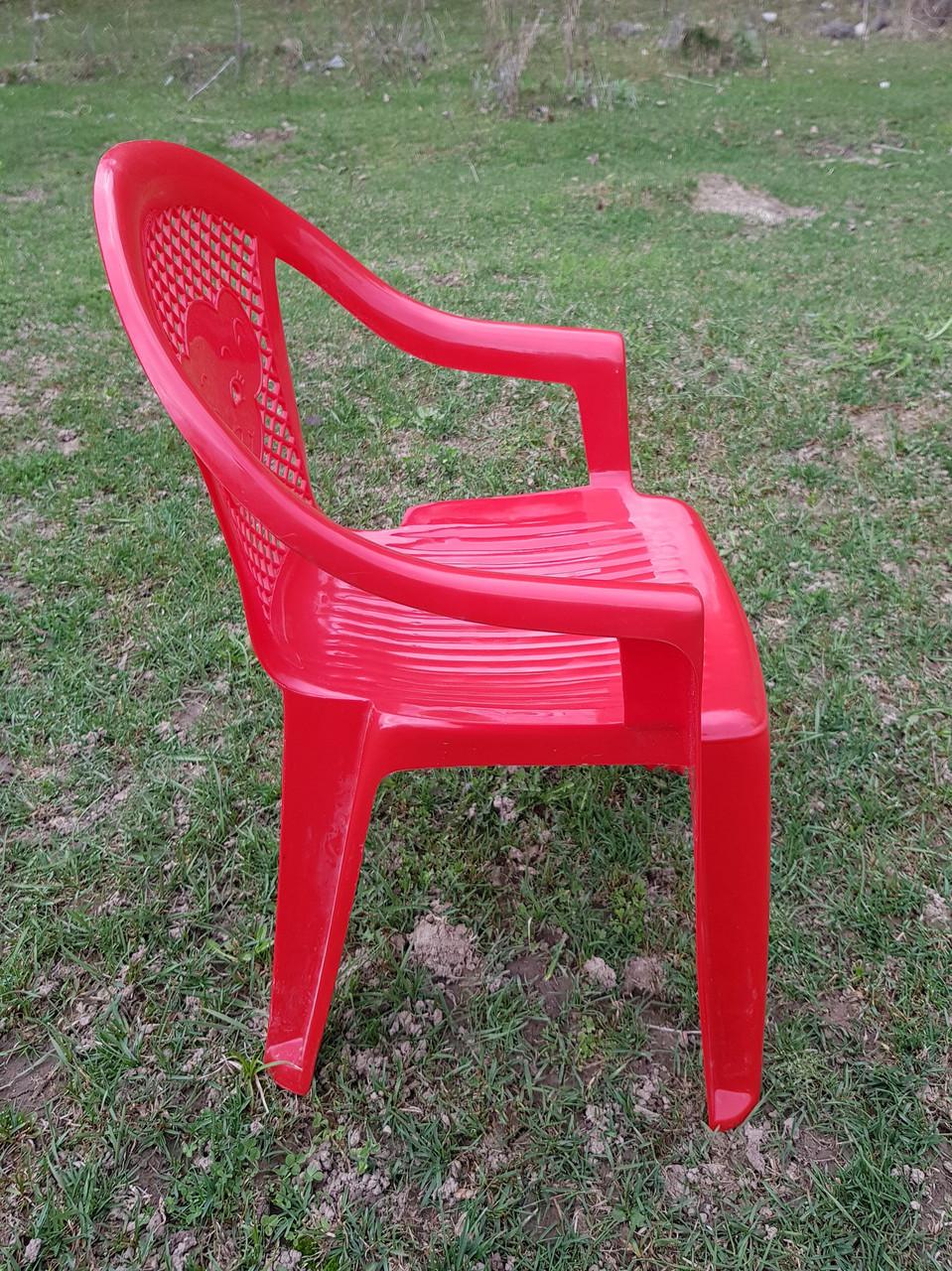 Детские стульчики пластиковые, четыре цвета - фото 2