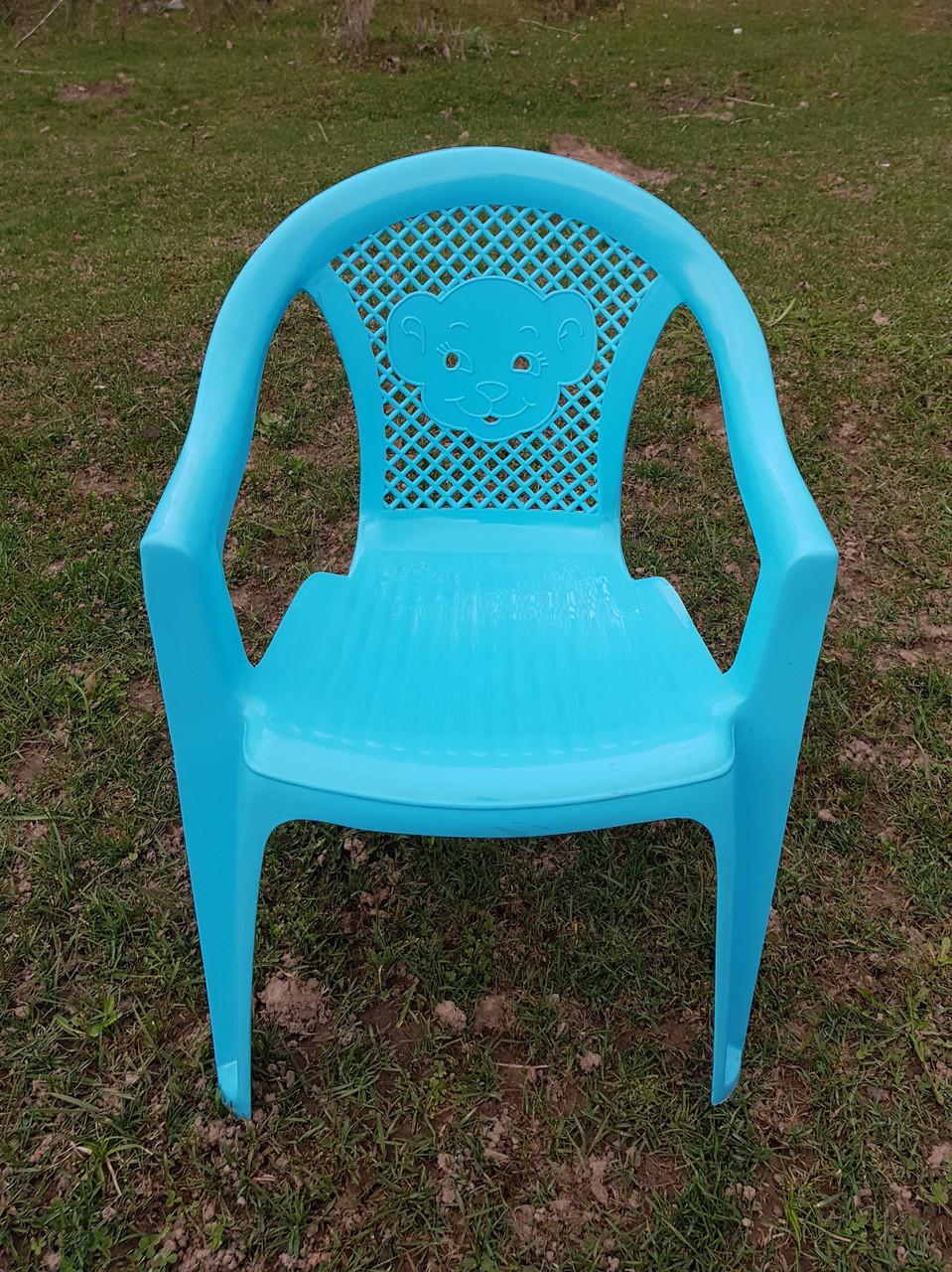 Детские стульчики пластиковые, четыре цвета - фото 3