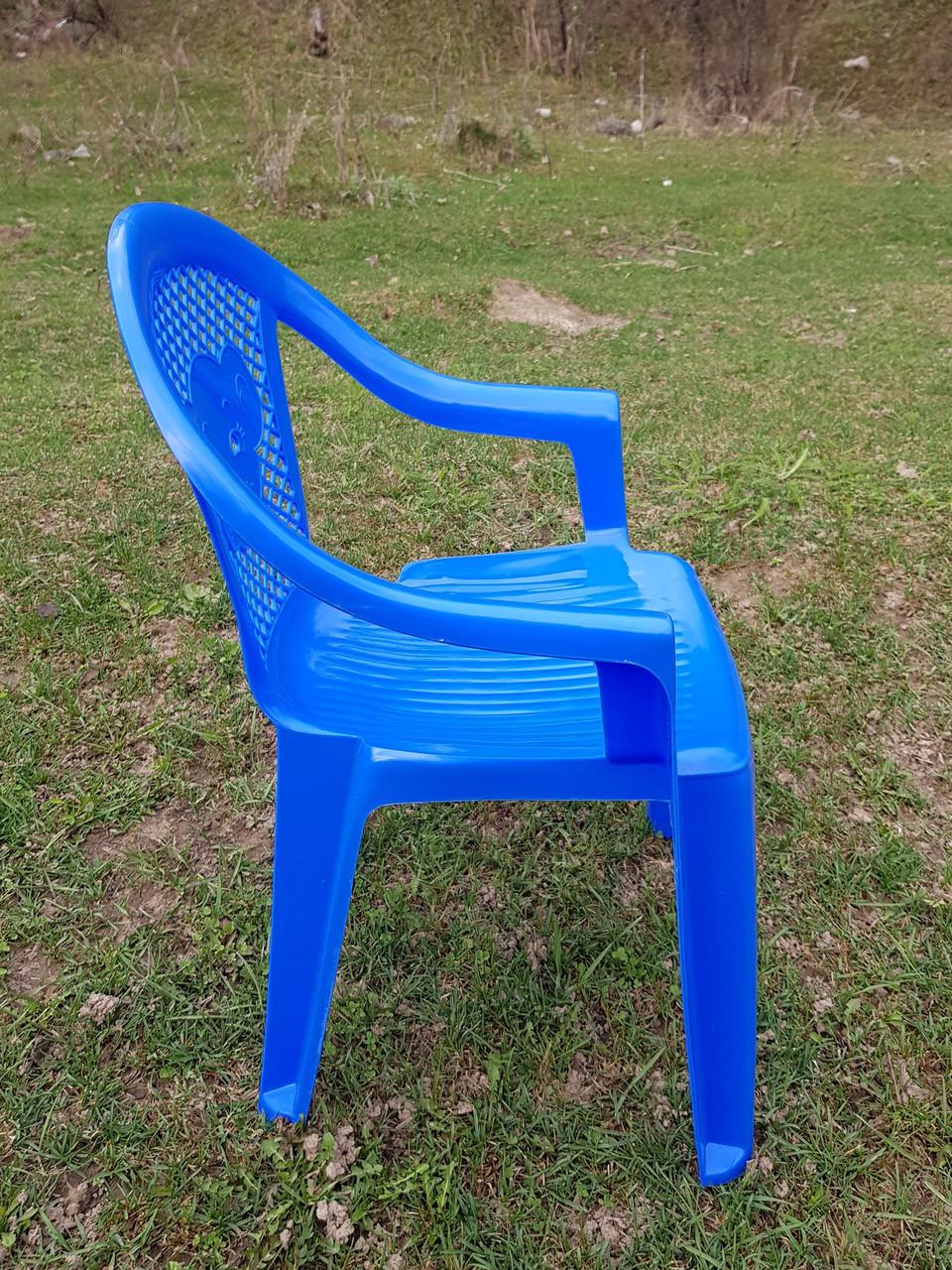 Детские стульчики пластиковые, четыре цвета - фото 4