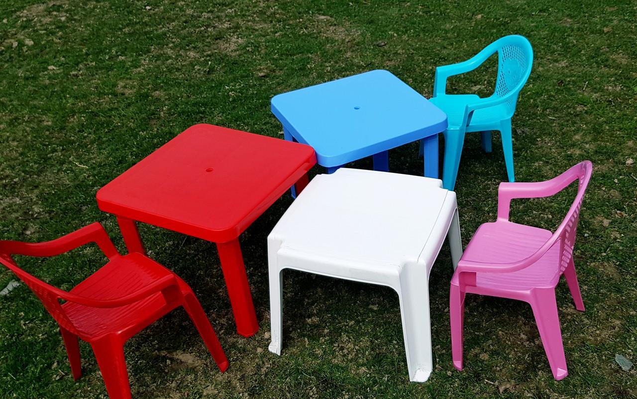 Детские стульчики пластиковые, четыре цвета - фото 6