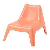 Кресло детское садовое БУНСЁ бледно-оранжевый ИКЕА, IKEA