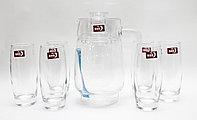 Кувшин со стаканами, (6 стаканов)