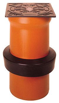 Телескопическая труба DN/OD 315 с крышкой без вентиляционных отверстий
