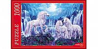 """Пазлы 1000 элементов  картонные  """"Единороги и водопады """", Рыжий кот"""