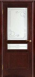 Дверь  массив шапонированная Симфония Соло ПО со стеклом
