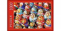 """Пазлы 1000 элементов  картонные  """"Красочные матрешки"""", Рыжий кот"""