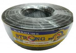 Коаксиальный кабель RG-58 STRONG  черный