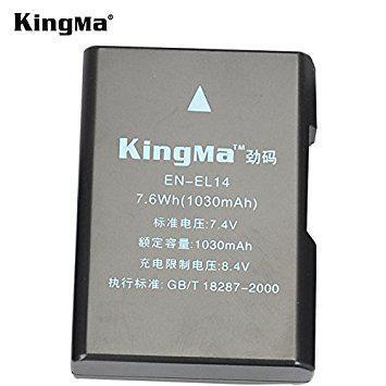 EN-EL14. Аккумулятор KingMa для фото/видео Nikon