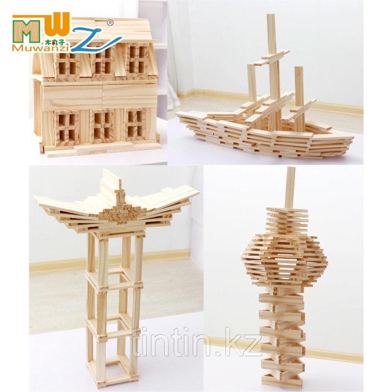 Деревянный конструктор - Брусочки Music Blocks, 102 деталей