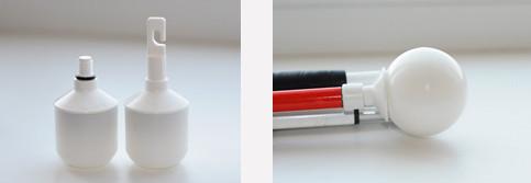 Шаровидный вращающийся наконечник красный с резьбой 8мм               арт. ЭГ14791
