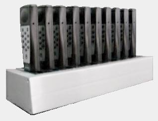 Блок подзарядки SC-10 на 10 слотов в комплекте с адаптером питания              арт. ЕМ16826