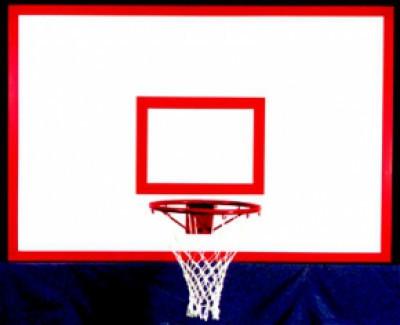 Щит баскетбольный игровой на металлической раме 1800*1050мм фанера                арт. AQ17497
