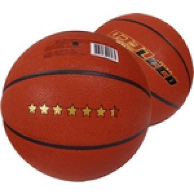 Мяч баскетбольный ЛЕКО 6,5 звезд, 10 класс прочности                арт. AQ17510