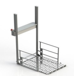 Универсальная вертикальная подъемная платформа для инвалидов (эконом-класса)                     арт. ИА22205