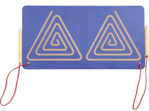Лабиринт симметричный двойной для подготовки к письму – Треугольники               арт. ИА22880