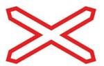 Дорожный знак 1.3.1 однопутная железная дорога (Алмазная пленка, тип В)             арт. ДЗ20095