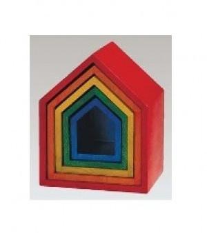 Набор цветных домиков «Радуга»             арт. RN18028