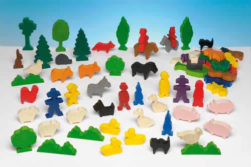 Набор деревянных фигурок «Люди и животные»                   арт. RN18070