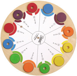 От 1 до 10. Палитра круглая: карточки               арт. RN9620