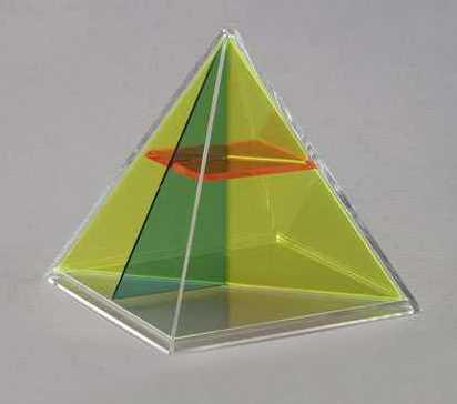 Набор прозрачных геометрических тел с сечениями. Дополнительный               арт. RN23079