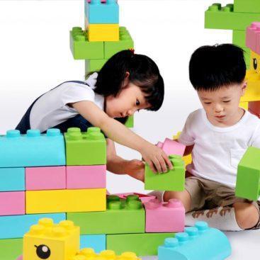 Конструктор из крупных мягких блоков WISE 1 (50 эл-тов, 5 пастельн.цветов)               арт. RN23095