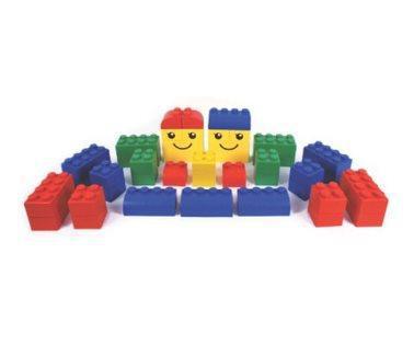 Конструктор из крупных мягких блоков WISE 2 (42 эл-та, 4 основ.цвета)               арт. RN23096