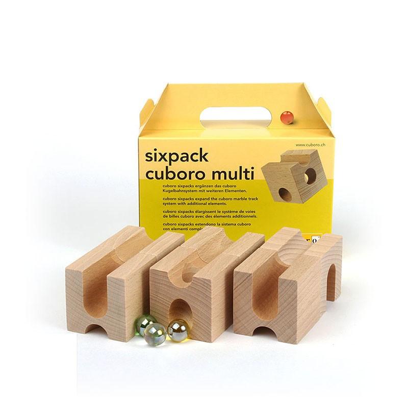 Дополнительные кубики-усложнения Куборо (cuboro sixpack  multi)              арт. InV20425